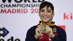 Sandra Sánchez presenta 'Kata contra el cáncer'. (AFP)