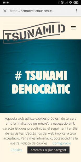 La Audiencia bloquea la web de 'Tsunami Democràtic' pero se multiplica en la red