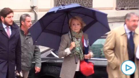 Esperanza Aguirre acude a declarar como imputada en la trama Púnica.