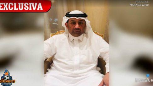 Abdullah Al-Thani, presidente y propietario del Málaga en El Chiringuito