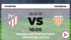 Atlético y Valencia se enfrentan en el Metropolitano.