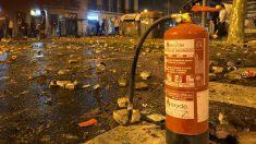 Destrozos en Barcelona.