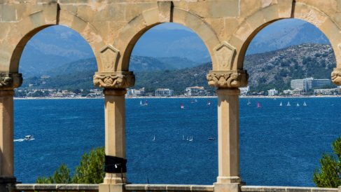 Una impresionante vista desde Sa Fortalesa, el lugar de la boda de Rafa Nadal y Xisca Perelló. (EFE)