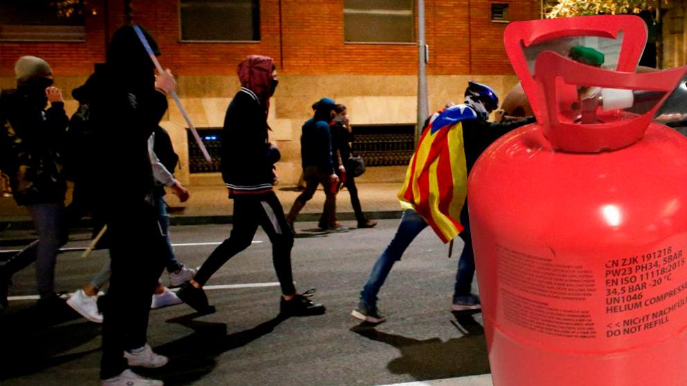 La bombona encontrada en Barcelona tenía manipulado el regulador de la válvula.
