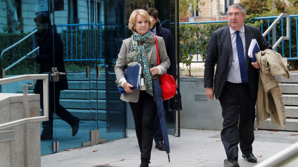 Esperanza Aguirre tras declarar en la Audiencia Nacional por la Púnica