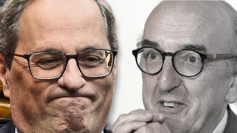 El presidente de la Generalitat, Quim Torra, y el millonario Jaume Roures.