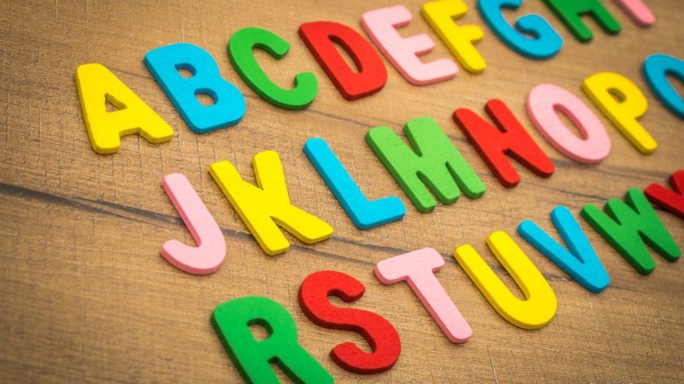 Las letras coloridas son la mejor presentación en un lapbook