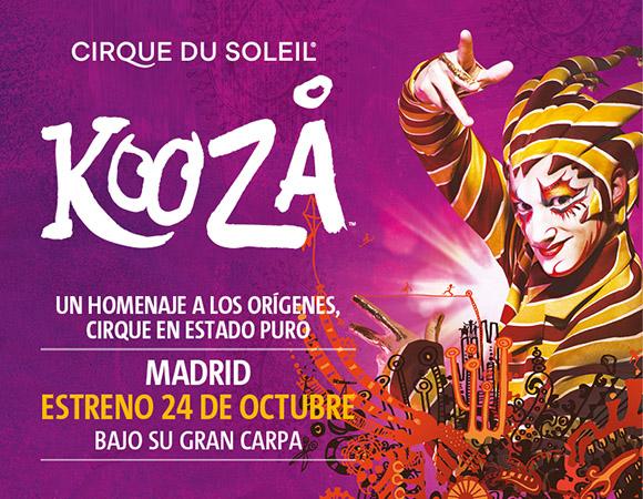 KOOZA es un homenaje a la tradición circense, Circo del Sol en estado puro.