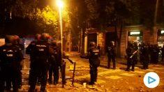 La Policía logra dispersar a los manifestantes de Vía Layetana.