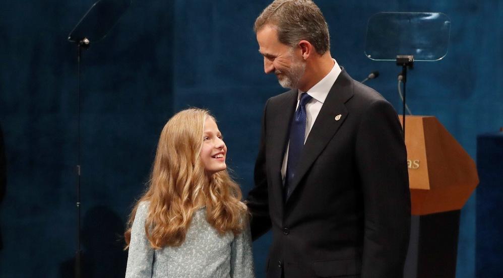 El Rey Felipe VI con la Princesa Leonor.