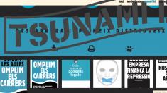 La web del Tsunami Democràtic que ha clausurado la Audiencia Nacional.