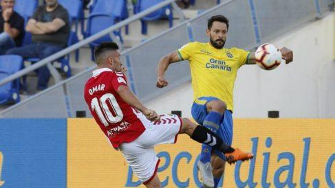 Alberto de la Bella en un partido con Las Palmas (Unión Deportiva Las Palmas)