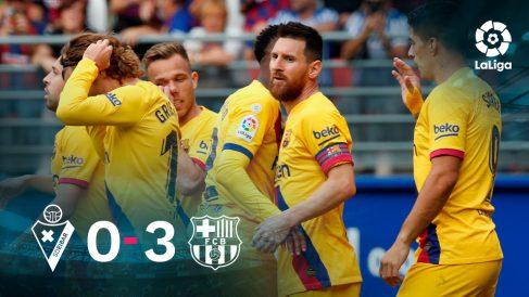 El Barcelona goleó al Eibar en Ipurúa.
