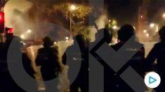 Así vivieron los policías nacionales la batalla campal de Urquinaona de Barcelona.