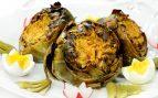 Alcachofas al horno con frutos secos
