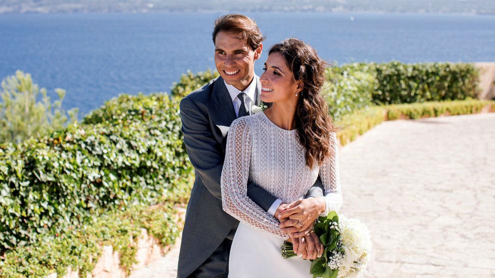 Rafa Nadal y Xisca Perelló el día de su boda. (EFE)