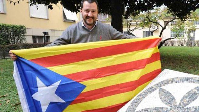 Salvini envía «un pensamiento al pueblo catalán»