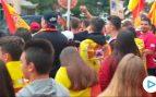 Cientos de personas se concentran en Tarragona por la unidad de España