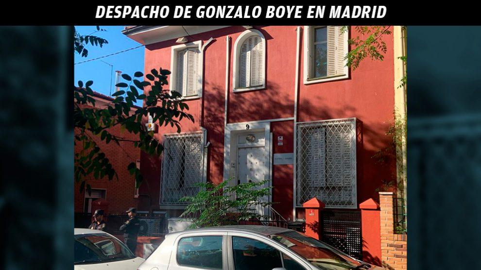 Despacho de Gonzalo Boye en Madrid.
