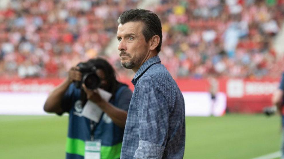 Juan Carlos Unzué con el Girona. (Girona Fútbol Club)