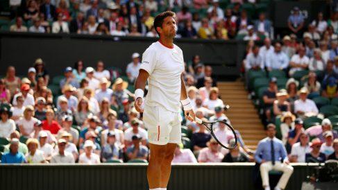 Verdasco, en un partido de Wimbledon. (Getty)