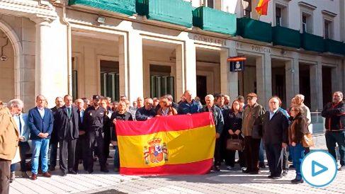 Concentraciones de apoyo a los policías en Cataluña.