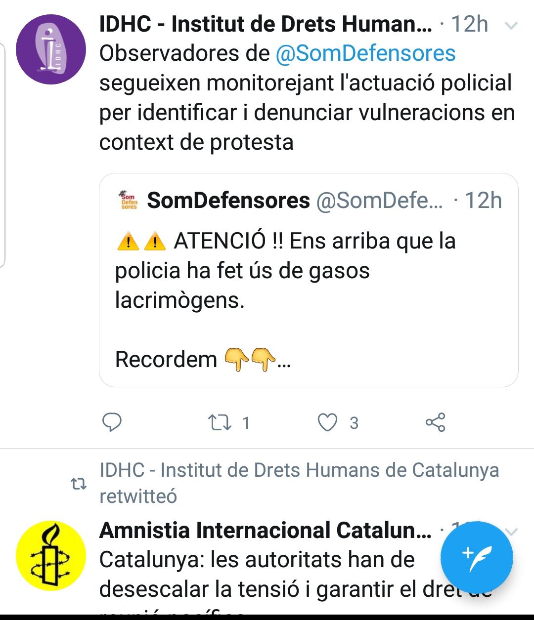 Las ONG catalanas subvencionadas por Soros aleccionan a los 'tsunamis' a denunciar a la Policía
