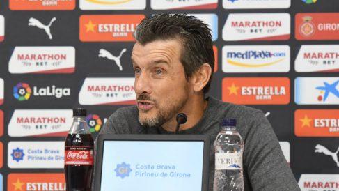 Juan Carlos Unzué en su despedida como técnico del Girona (Girona Fútbol Club)