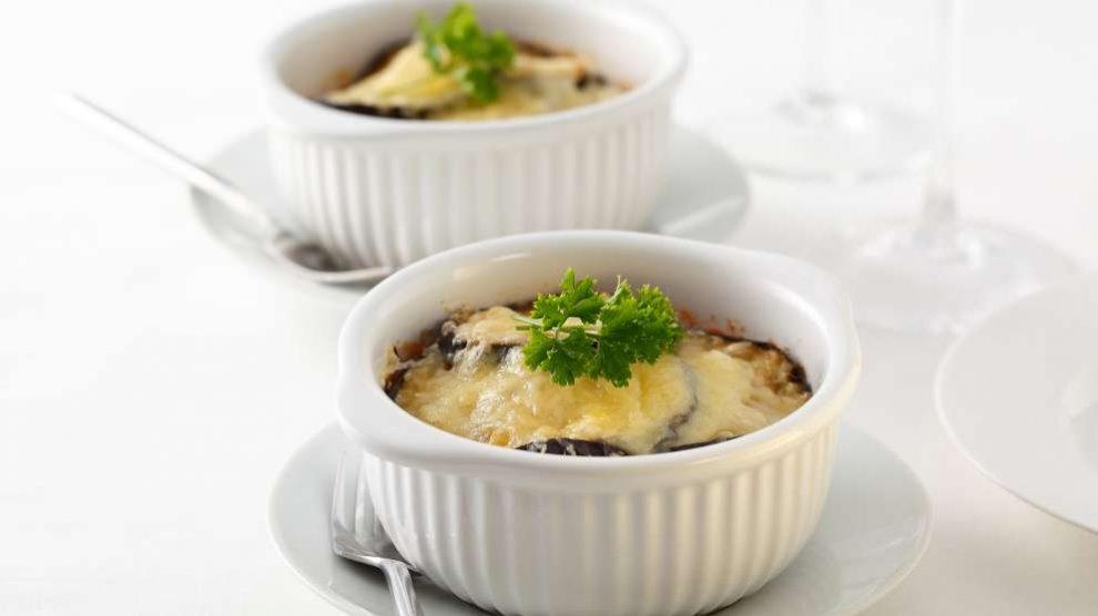 Receta de Pastel de berenjenas al horno con crema de queso