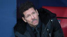 Simeone, en el banquillo del Wanda Metropolitano. (Foto: Alberto Simón)