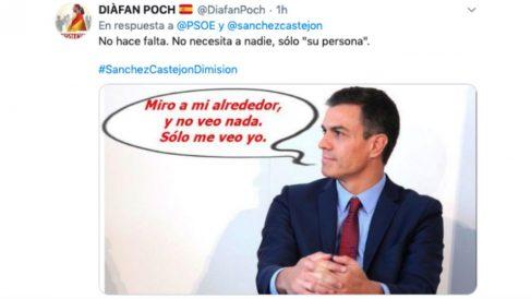 Uno de los tuits en respuesta a la campaña del PSOE #MiFotoConPedro
