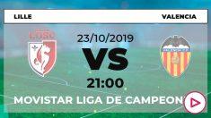 Lille y Valencia se enfrentan en el partido de la tercera jornada de Champions League.