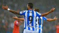 Willian José en un partido ante el Getafe (AFP)