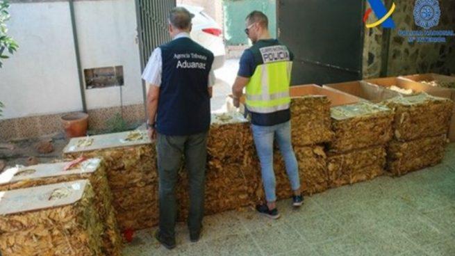 Intervenidas ocho toneladas de tabaco de contrabando en Sevilla
