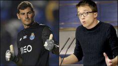 Iker Casillas e Íñigo Errejón.