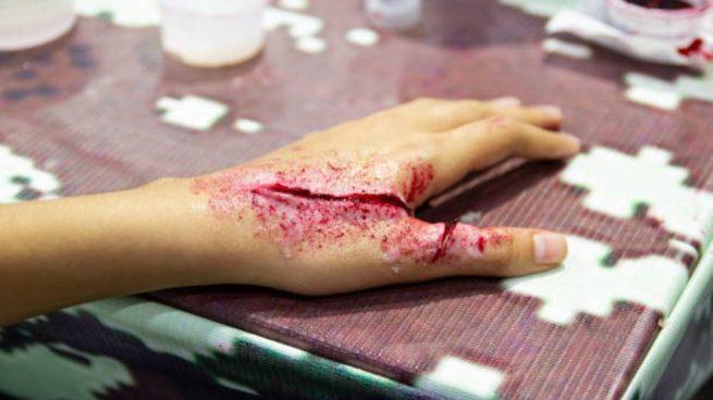 heridas para halloween