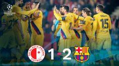 Messi salvó los muebles para el Barça.