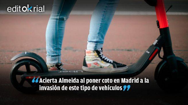 Almeida se pone duro con los patinetes