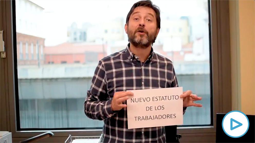 El diputado podemita Rafael Mayoral y su último vídeo delirante.