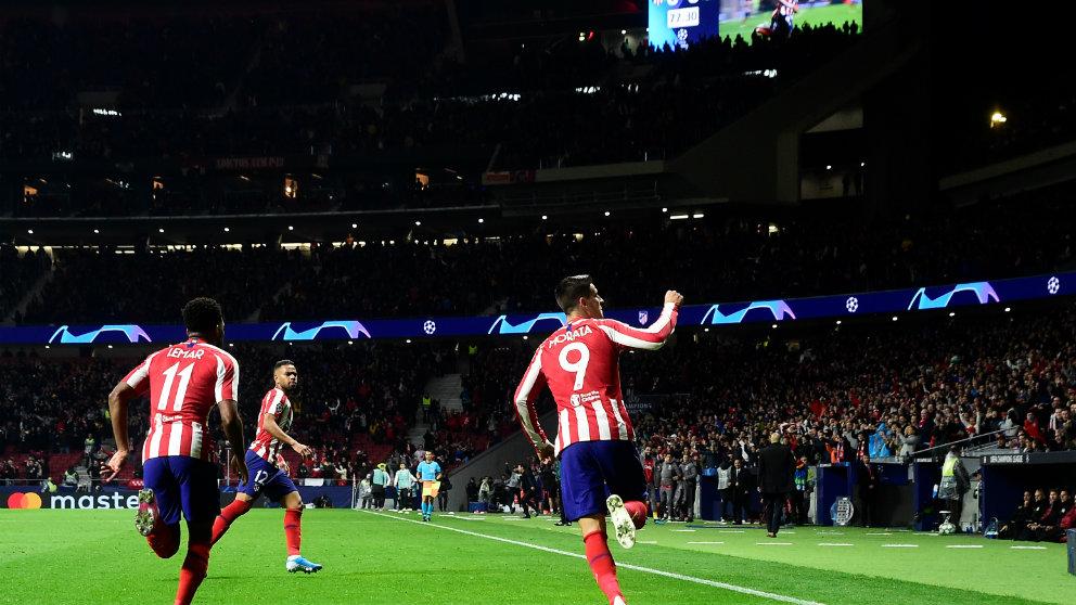 El Atlético de Madrid en el Wanda Metropolitano (AFP)