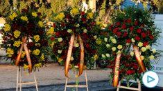 Coronas en honor a Franco en Mingorrubio.