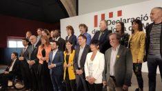 Algunos de los independentistas que han firmado la declaración