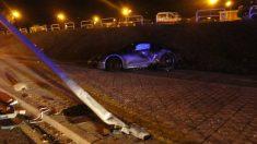 Así quedó el Porsche de Rubén García tras un accidente (@PamplonaIrunaPM)