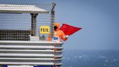 Bandera roja en el GP de Australia.