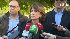 La ministra de Justicia, Dolores Delgado, este sábado en Leganés durante la visita al parque de la II República. (Ep)