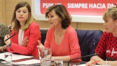 La vicepresidenta Carmen Calvo. (Foto. PSOE)