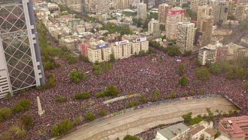 Más de un millón de personas se han manifestado este viernes en Santiago de Chile. (Ep)