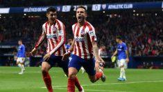 Saúl Ñíguez celebra su gol ante el Athletic (Getty)