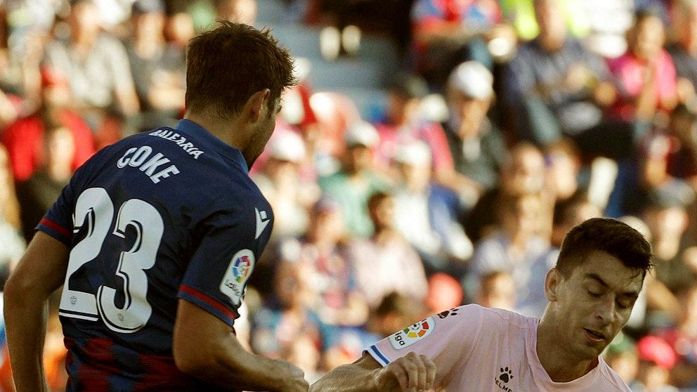 Coke Andújar, del Levante, en un partido ante el Espanyol (EFE)