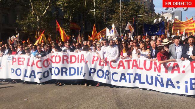 Última hora Cataluña, en directo: Últimas noticias de la manifestación constitucionalista hoy en Barcelona